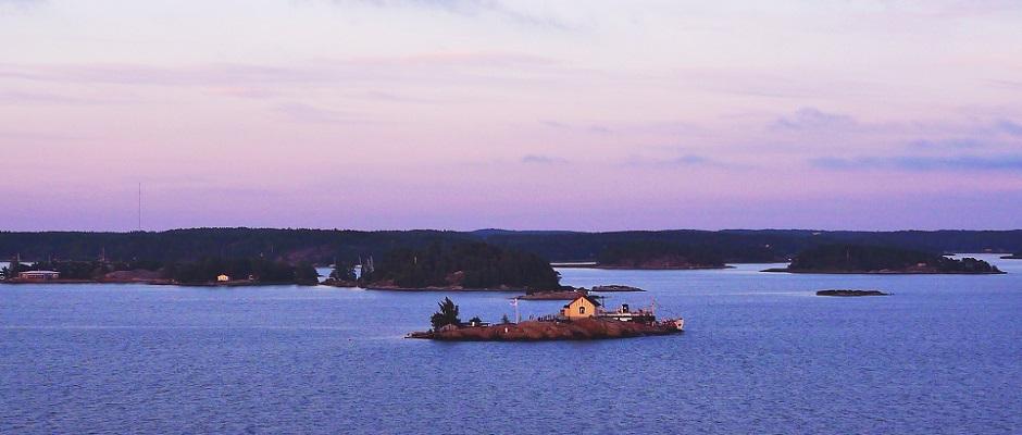 Op een eiland